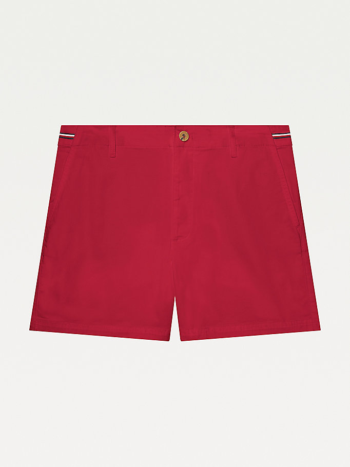red adaptive signature trim shorts for women tommy hilfiger