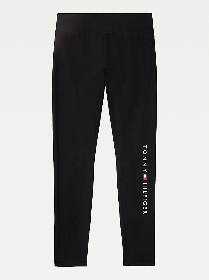 black adaptive logo leggings for women tommy hilfiger