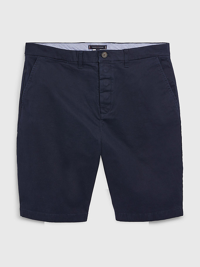 short chino adaptive coupe standard bleu pour hommes tommy hilfiger
