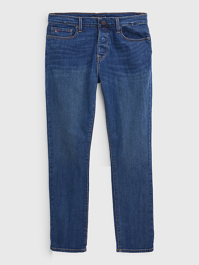 blue adaptive low rise denton fit jeans for men tommy hilfiger