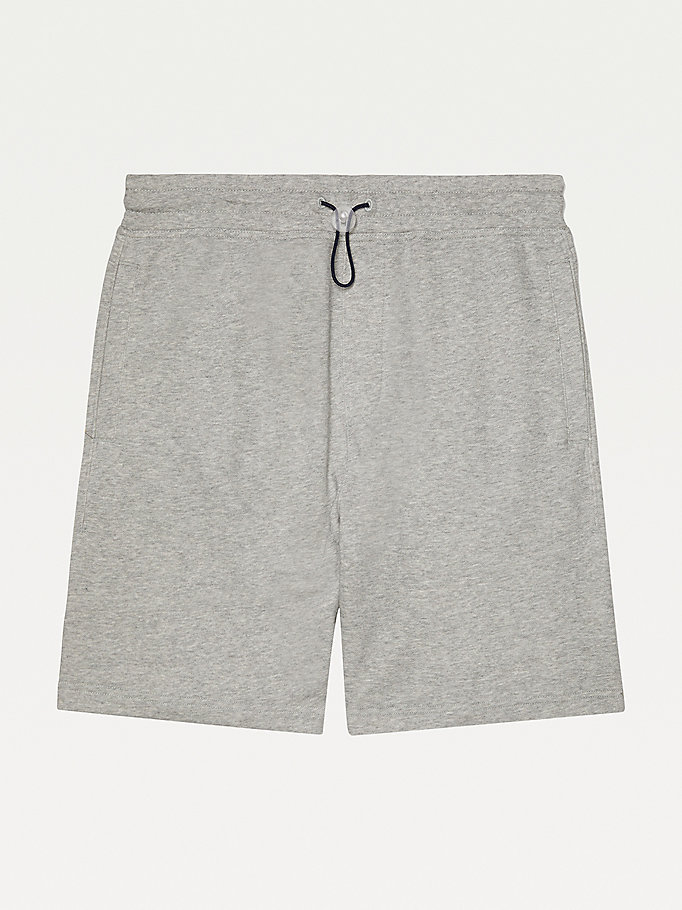 grey adaptive regular fit shorts for men tommy hilfiger