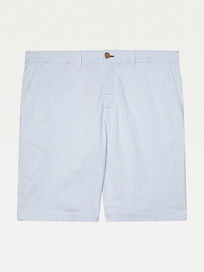 blue adaptive ithaca stripe regular fit shorts for men tommy hilfiger