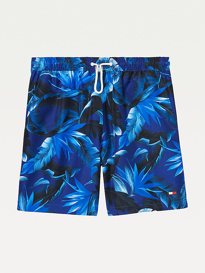 blue adaptive tropical mid-length swim shorts for men tommy hilfiger