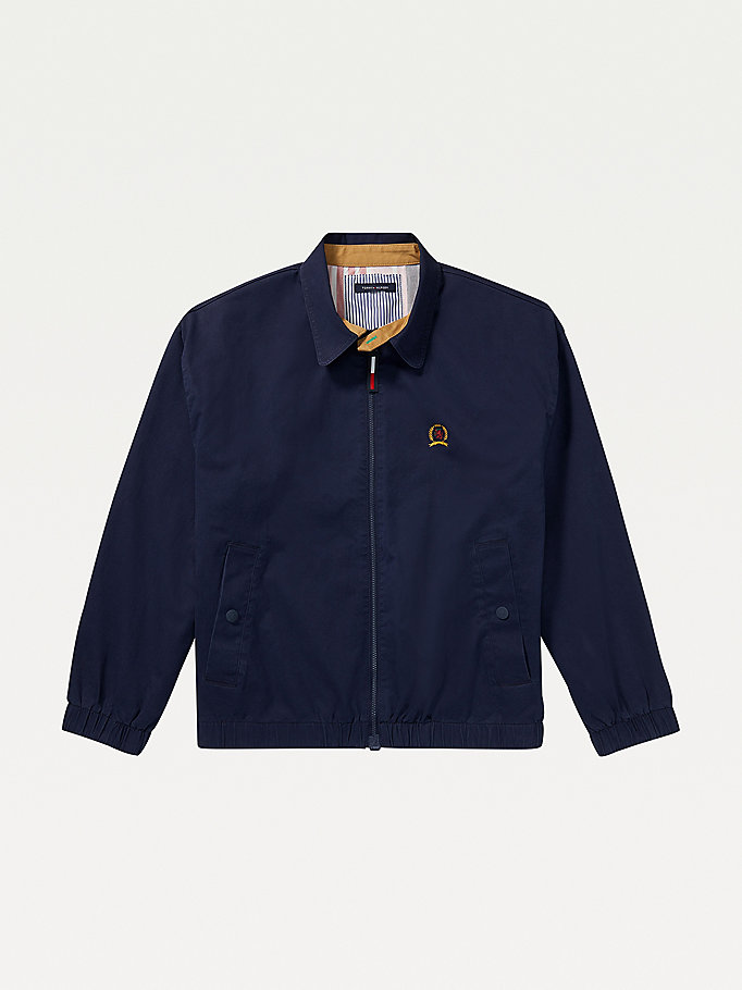 blue adaptive reversible ivy jacket for men tommy hilfiger