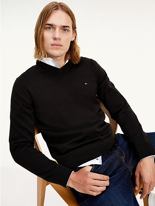 PACIFIC V-NK - NEW BLACK - TOMMY HILFIGER Men - main image