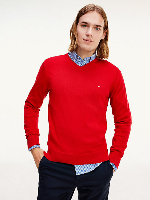 PACIFIC V-NK - APPLE RED - TOMMY HILFIGER Vêtements - image principale