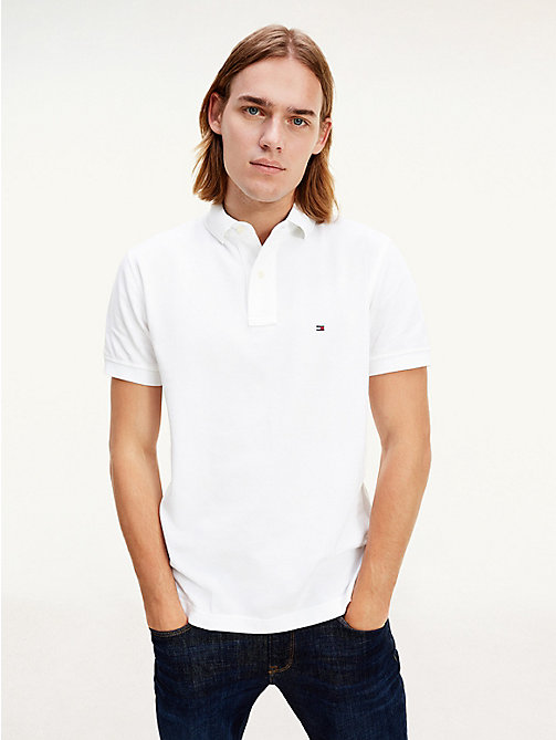 Tommy Polo Regular Fit - CLASSIC WHITE - TOMMY HILFIGER Vêtements - image principale