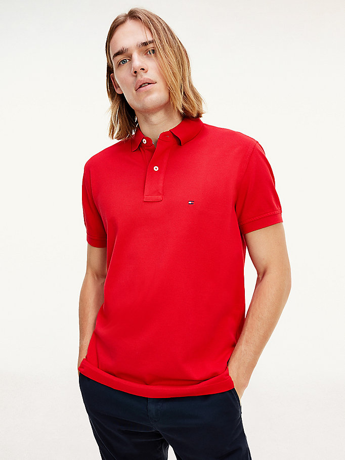 TOMMY HILFIGER Tommy Regular Fit Polo - NEW BLACK - TOMMY HILFIGER Мужчины - главное изображение