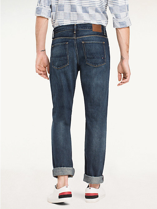 Distressed Regular Fit Jeans - MIDDLE BLUE - TOMMY HILFIGER Men - detail image 1