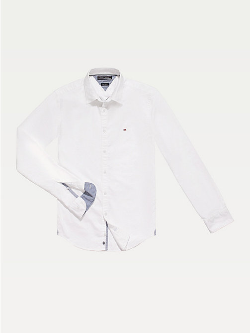 Fitted Oxford overhemd - CLASSIC WHITE - TOMMY HILFIGER Kleding - main image