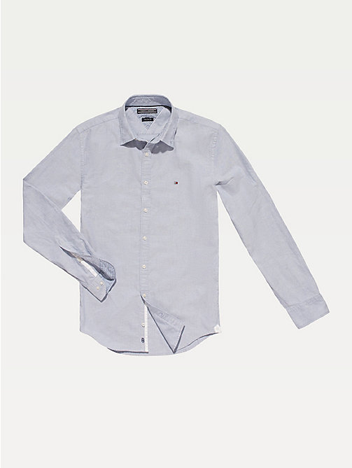 Fitted Oxford Shirt - SHIRT BLUE - TOMMY HILFIGER Men - main image