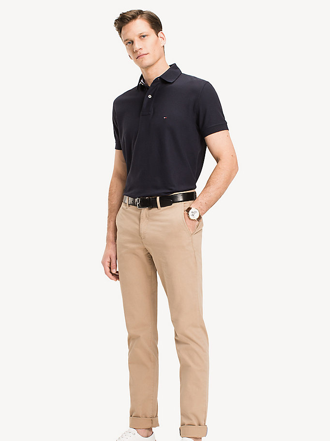 TOMMY HILFIGER Classic Regular Fit Polo - FLAG BLACK - TOMMY HILFIGER Clothing - main image
