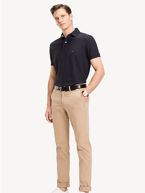 TOMMY HILFIGER Cotton Polo Shirt - SKY CAPTAIN - TOMMY HILFIGER Polo Shirts - main image