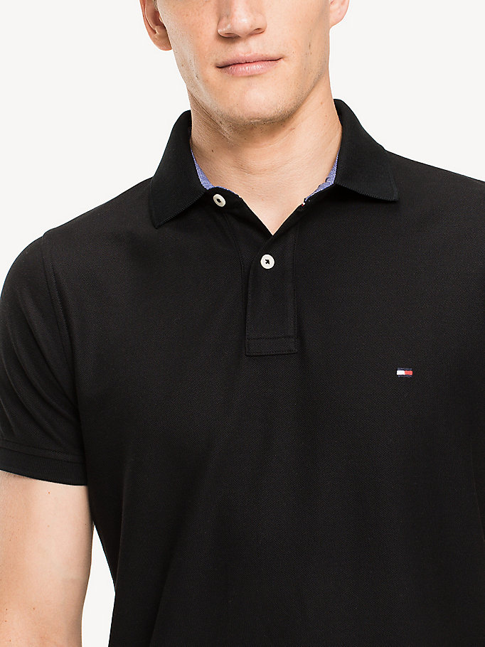 TOMMY HILFIGER Slim Fit Polo Shirt - BRIGHT WHITE - TOMMY HILFIGER Men - detail image 2