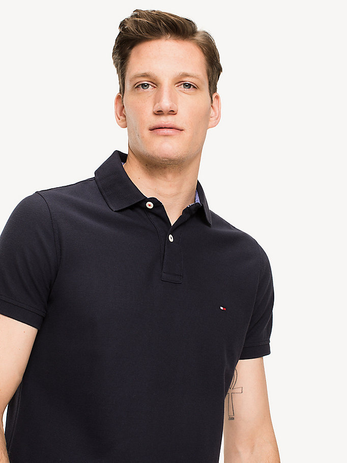 TOMMY HILFIGER Slim Fit Polo Shirt - FLAG BLACK - TOMMY HILFIGER Men - detail image 2
