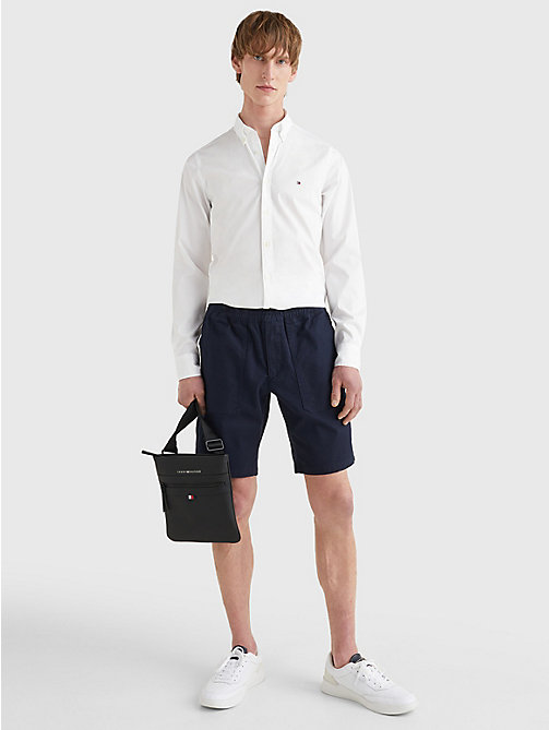 Cotton Poplin Slim Fit Shirt - BRIGHT WHITE - TOMMY HILFIGER Men - detail image 1