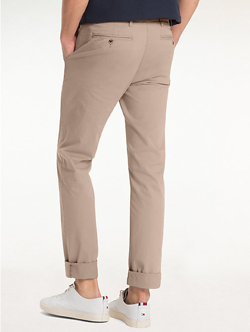TOMMY HILFIGER Organic Stretch Twill Chinos - WALNUT - TOMMY HILFIGER Chinos - detail image 1