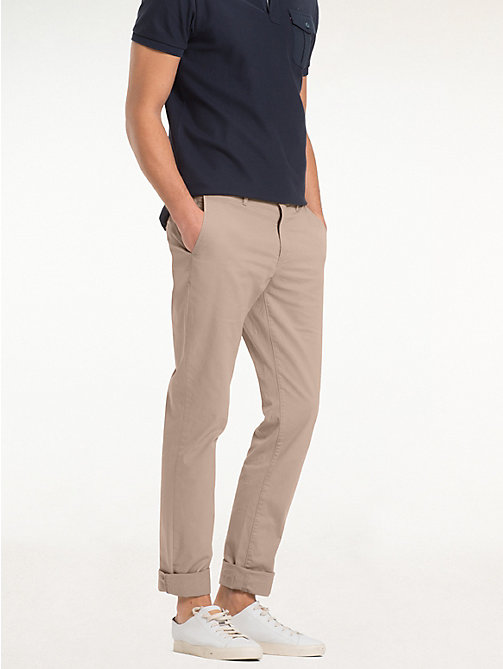TOMMY HILFIGER Organic Stretch Twill Chinos - WALNUT - TOMMY HILFIGER Chinos - main image
