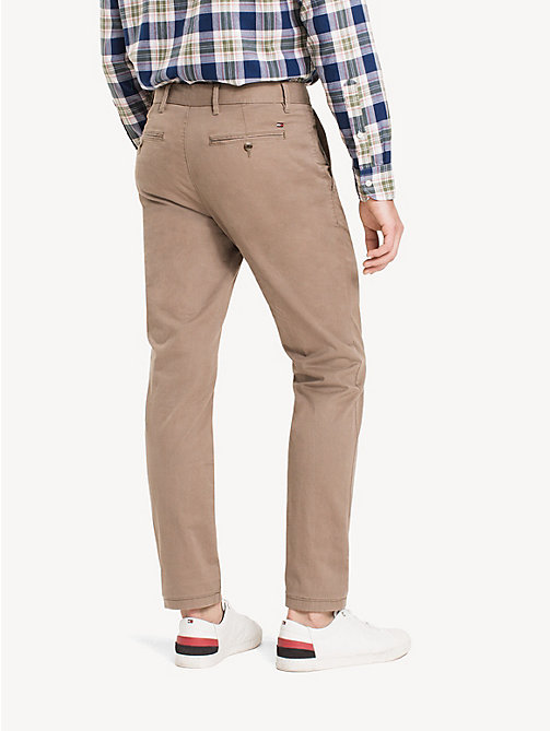 Organic Cotton Straight Fit Chinos - BATIQUE KHAKI - TOMMY HILFIGER Men - detail image 1