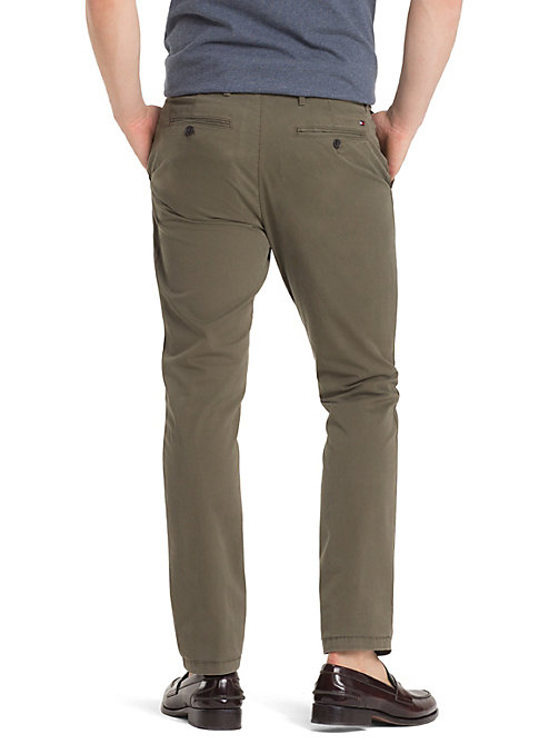 TOMMY HILFIGER Organic Stretch Twill Chinos - GRAPE LEAF - TOMMY HILFIGER Chinos - detail image 1