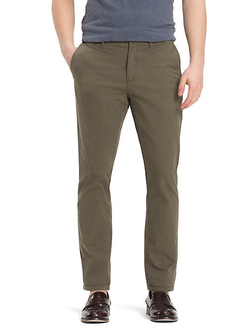 TOMMY HILFIGER Organic Stretch Twill Chinos - GRAPE LEAF - TOMMY HILFIGER Chinos - main image