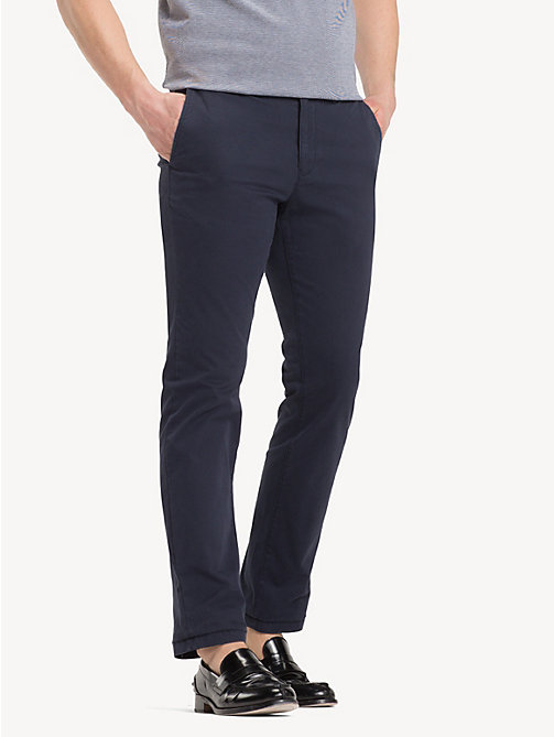 Organic Cotton Straight Fit Chinos - SKY CAPTAIN - TOMMY HILFIGER Clothing - main image