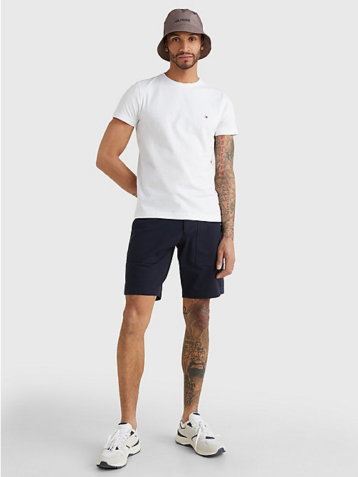 Stretch Slim Fit T-Shirt - BRIGHT WHITE - TOMMY HILFIGER Vêtements - image détaillée 1