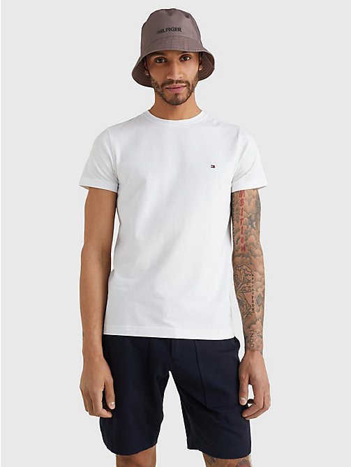 Stretch Slim Fit T-Shirt - BRIGHT WHITE - TOMMY HILFIGER Vêtements - image principale