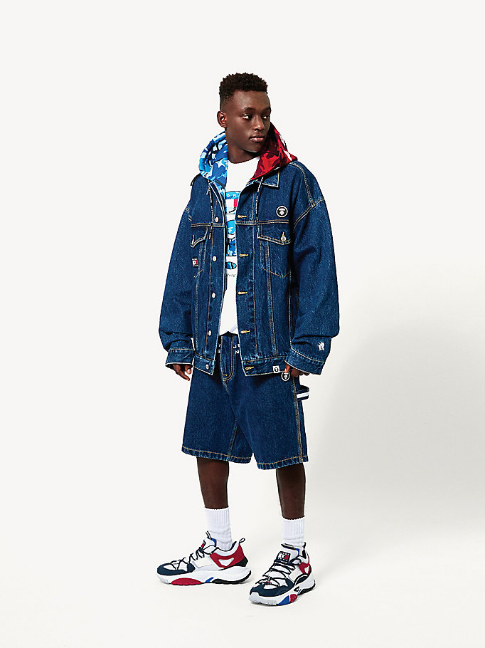 denim tommy jeans x aape denim shorts for men tommy jeans