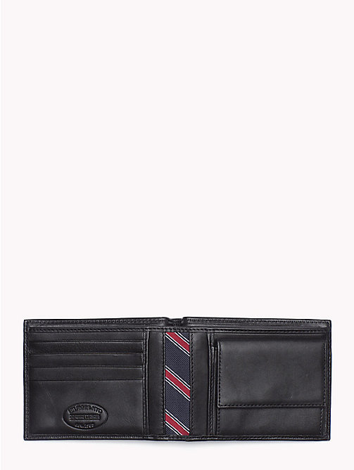 TOMMY HILFIGER Bifold Leather Wallet - BLACK - TOMMY HILFIGER Men - detail image 1