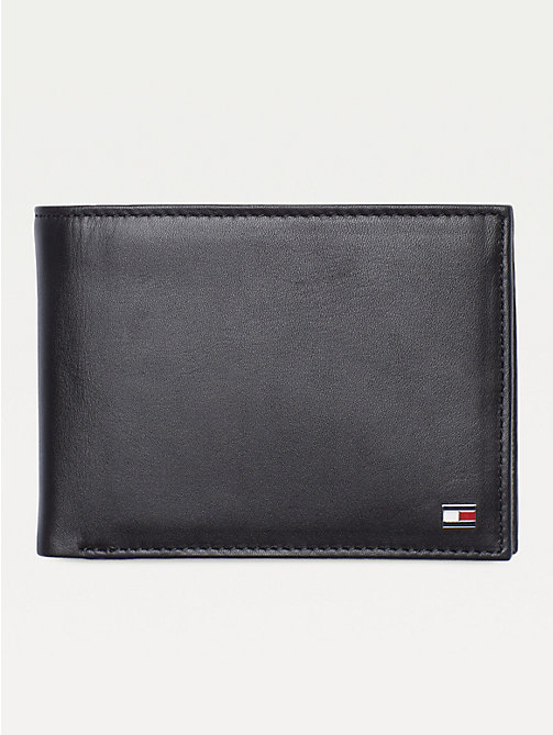 TOMMY HILFIGER Bifold Leather Wallet - BLACK - TOMMY HILFIGER Wallets & Keyrings - main image