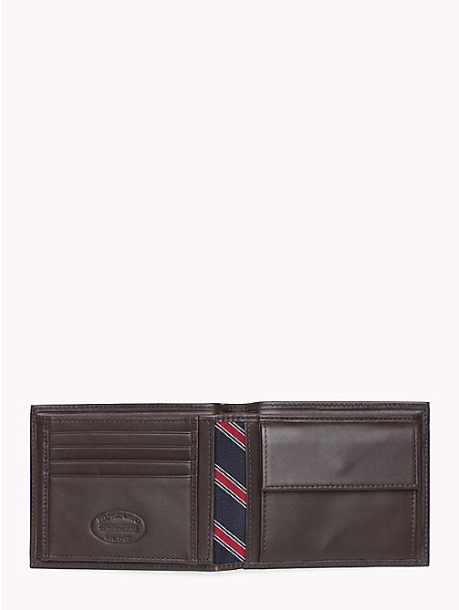 TOMMY HILFIGER Bifold Leather Wallet - BROWN - TOMMY HILFIGER Wallets & Keyrings - detail image 1