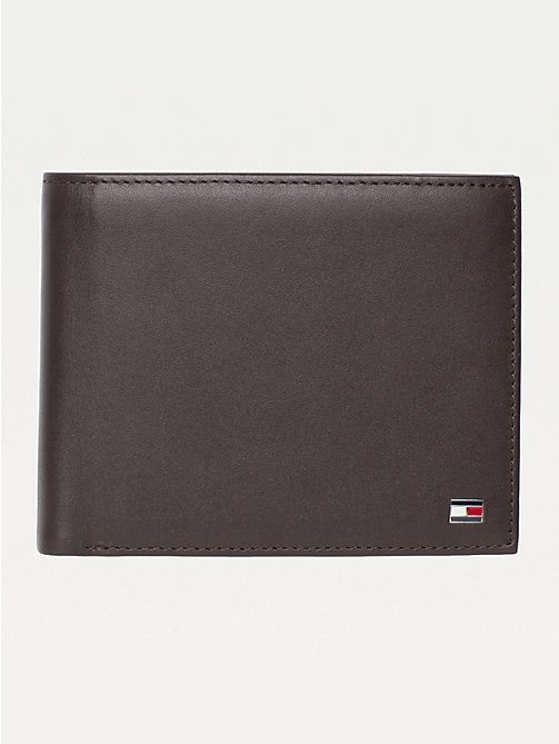 TOMMY HILFIGER Eton Bifold Leather Wallet - BROWN - TOMMY HILFIGER Men - main image