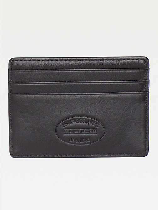 TOMMY HILFIGER Leather Card Holder - BLACK - TOMMY HILFIGER Wallets & Keyrings - detail image 1