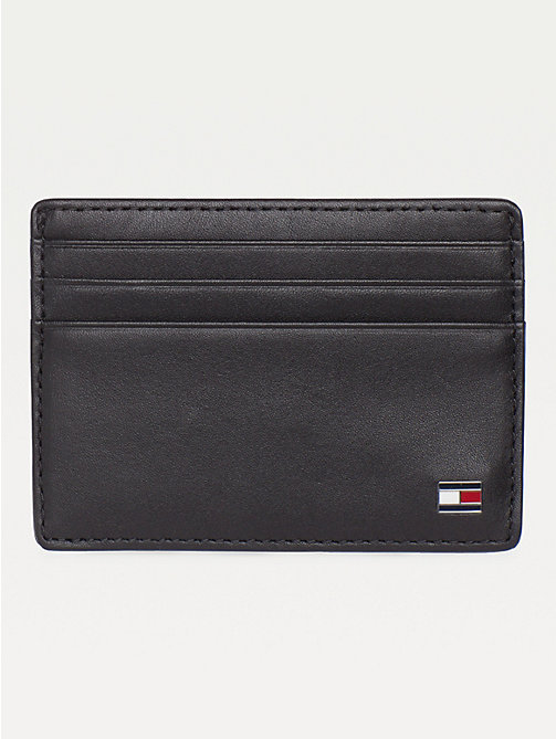 TOMMY HILFIGER Eton Leather Card Holder - BLACK - TOMMY HILFIGER Men - main image