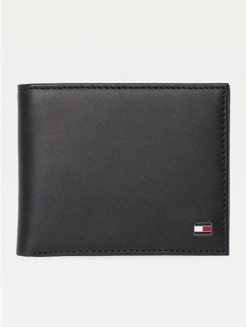 TOMMY HILFIGER Small Embossed Bifold Wallet - BLACK - TOMMY HILFIGER Wallets & Keyrings - main image