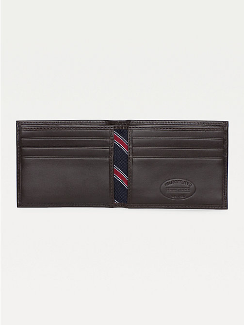 TOMMY HILFIGER Small Embossed Bifold Wallet - BROWN - TOMMY HILFIGER Wallets & Keyrings - detail image 1