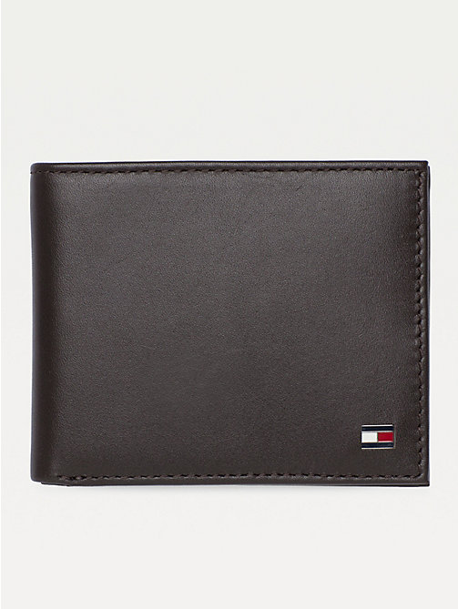 TOMMY HILFIGER Small Embossed Bifold Wallet - BROWN - TOMMY HILFIGER Wallets & Keyrings - main image