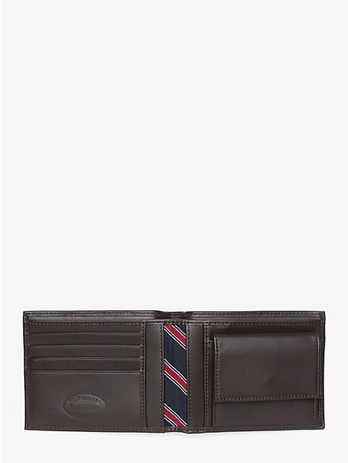 TOMMY HILFIGER Signature Stripe Trifold Wallet - BROWN - TOMMY HILFIGER Wallets & Keyrings - detail image 1