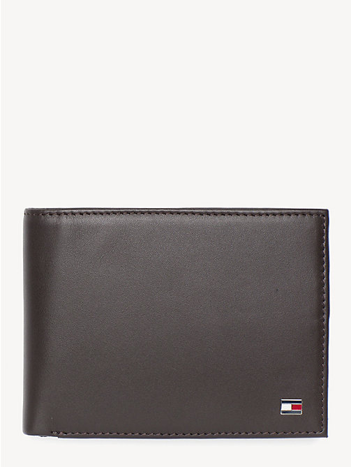 TOMMY HILFIGER Signature Stripe Trifold Wallet - BROWN - TOMMY HILFIGER Wallets & Keyrings - main image
