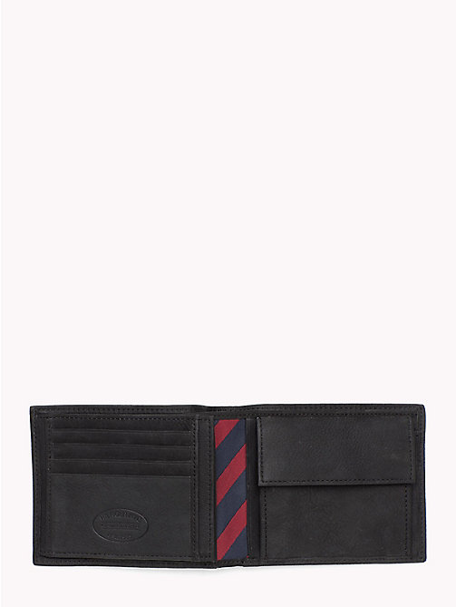 TOMMY HILFIGER Leather Credit Card Wallet - BLACK - TOMMY HILFIGER Men - detail image 1