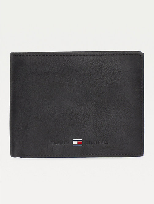 TOMMY HILFIGER Leather Credit Card Wallet - BLACK - TOMMY HILFIGER Men - main image