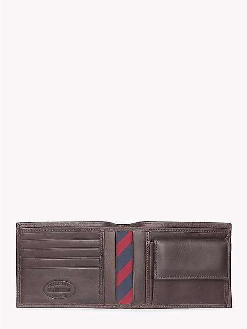 TOMMY HILFIGER Johnson Leather Credit Card Wallet - BROWN - TOMMY HILFIGER Men - detail image 1