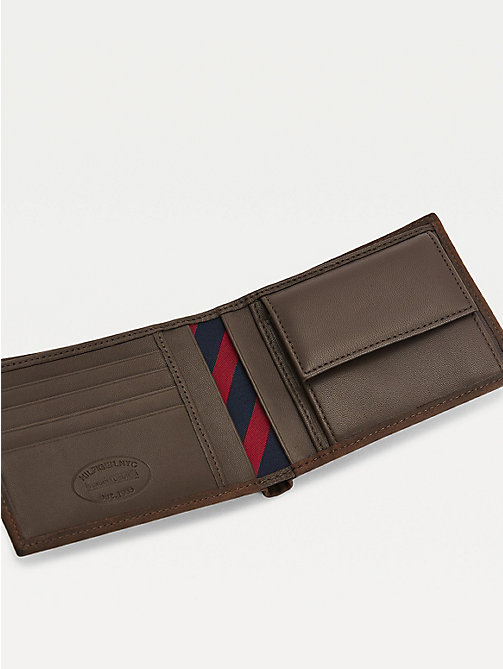 TOMMY HILFIGER Leather Credit Card Wallet - BROWN - TOMMY HILFIGER Wallets & Keyrings - detail image 1