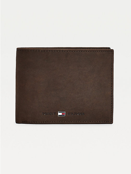 TOMMY HILFIGER Johnson Leather Credit Card Wallet - BROWN - TOMMY HILFIGER Men - main image