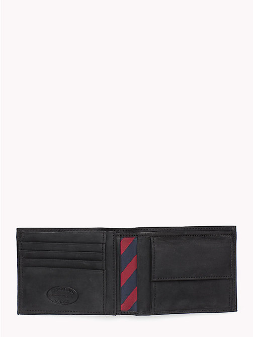 TOMMY HILFIGER Johnson Leather Flap Wallet - BLACK - TOMMY HILFIGER Men - detail image 1