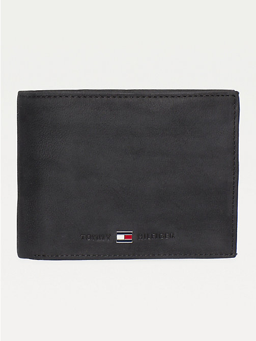 TOMMY HILFIGER Johnson Leather Flap Wallet - BLACK - TOMMY HILFIGER Men - main image