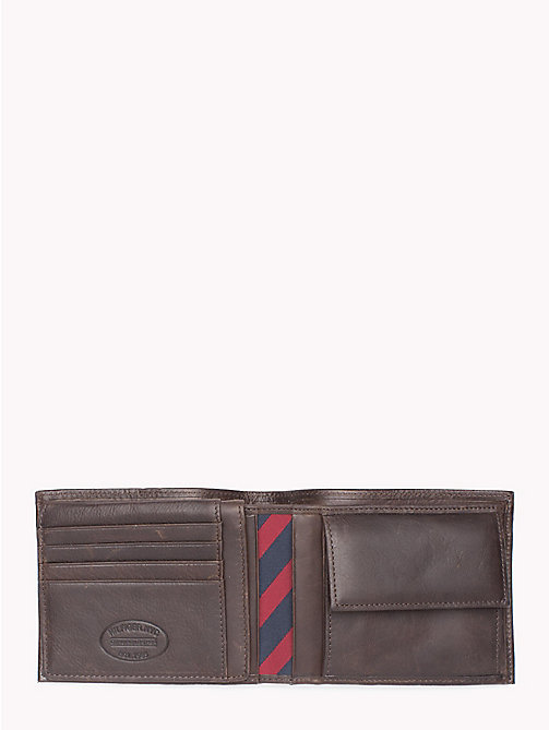 TOMMY HILFIGER Leather Flap Wallet - BROWN - TOMMY HILFIGER Wallets & Keyrings - detail image 1