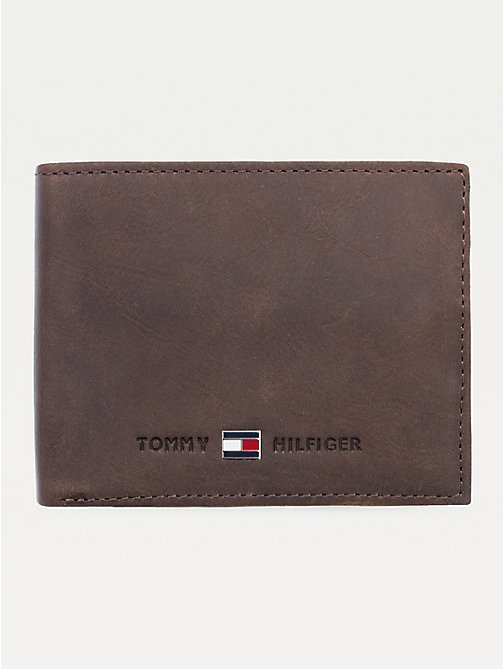 TOMMY HILFIGER Leather Flap Wallet - BROWN - TOMMY HILFIGER Wallets & Keyrings - main image
