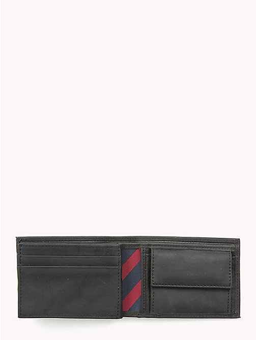 TOMMY HILFIGER Small Leather Wallet - BLACK - TOMMY HILFIGER Men - detail image 1